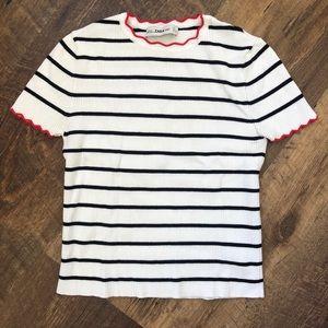Zara - Knit Striped Shirt